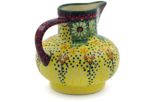 Polish Pottery Creamer 7 oz Sunshine Grotto Theme UNIKAT