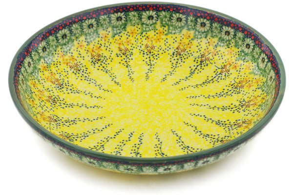 "Polish Pottery Bowl 12"" Sunshine Grotto Theme UNIKAT"