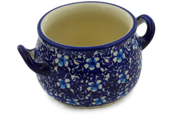 Polish Pottery Bouillon Cup 13 oz Flowers On The Lake Theme
