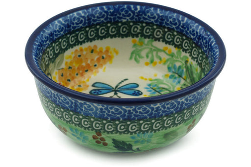 "Polish Pottery Bowl 5"" Garden Delight Theme UNIKAT"