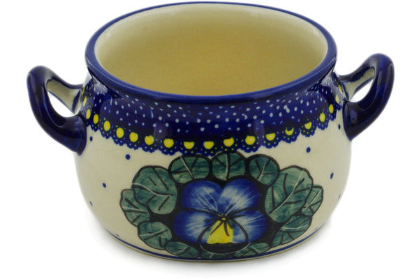 Polish Pottery Bouillon Cup 13 oz Flower In The Grass Theme UNIKAT