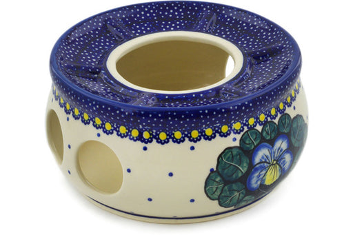 "Polish Pottery Heater 6"" Flower In The Grass Theme UNIKAT"