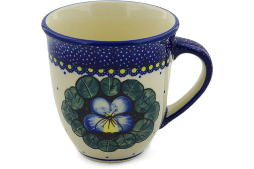 Polish Pottery Mug 17 oz Flower In The Grass Theme UNIKAT