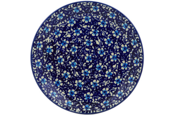 "Polish Pottery Plate 7"" Flowers On The Lake Theme"