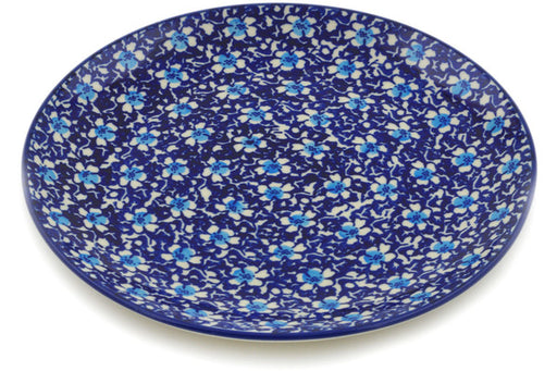 "Polish Pottery Plate 8"" Flowers On The Lake Theme"