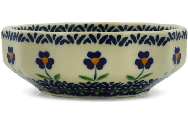 "Polish Pottery Bowl 5"" Mariposa Lily Theme"