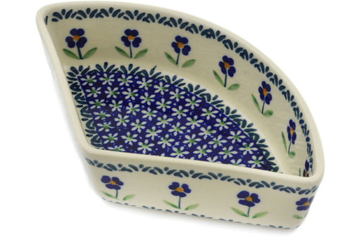 "Polish Pottery Bowl 8"" Mariposa Lily Theme"