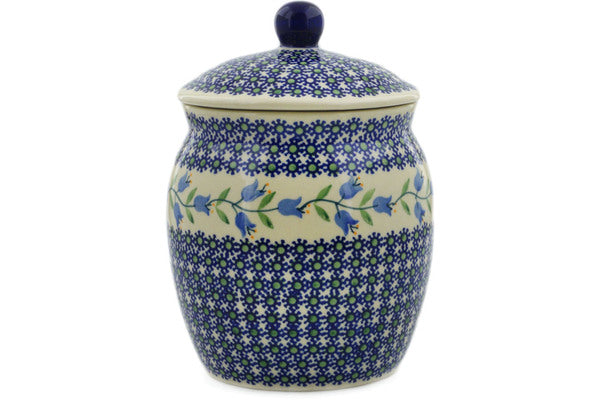 "Polish Pottery Jar with Lid 8"" Sweet Dreams Theme"