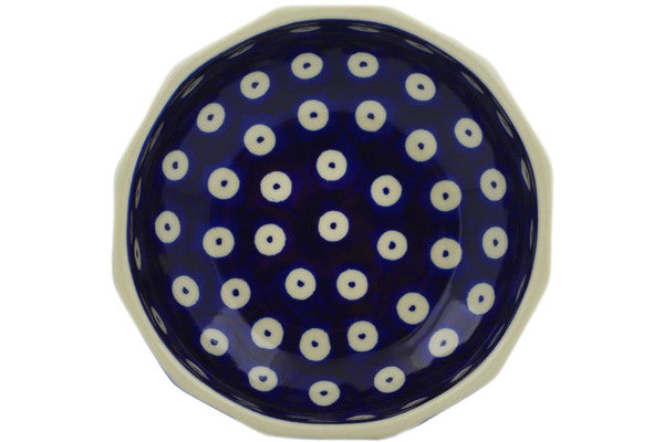 "Polish Pottery Bowl 5"" Peacock Eyes Theme"
