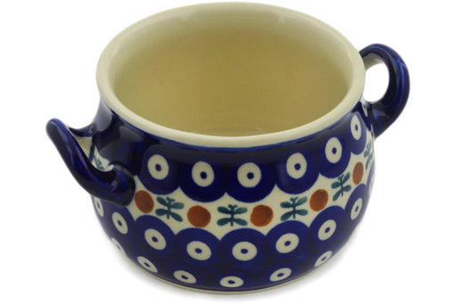 Polish Pottery Bouillon Cup 13 oz Mosquito Theme
