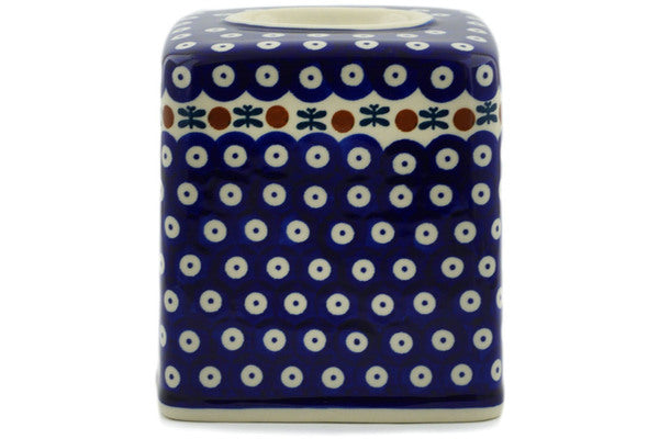 "Polish Pottery Tissue Box Cover 6"" Mosquito Theme"