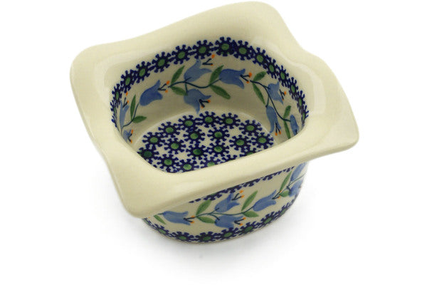 "Polish Pottery Square Bowl 6"" Sweet Dreams Theme"