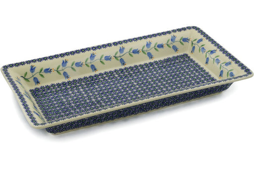 "Polish Pottery Rectangular Baker 15"" Sweet Dreams Theme"