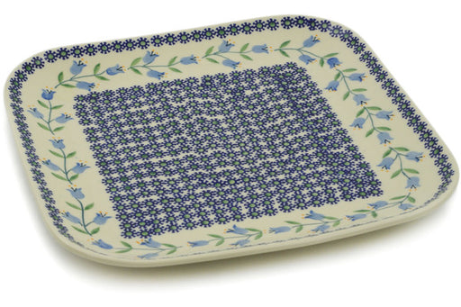 "Polish Pottery Square Plate 10"" Sweet Dreams Theme"