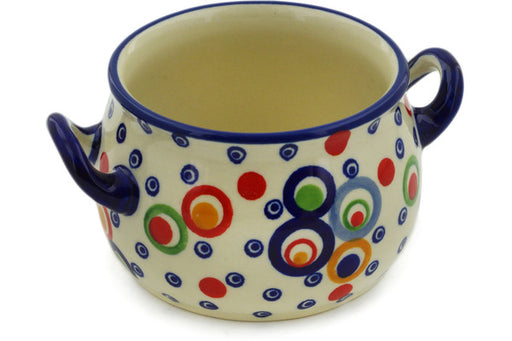 Polish Pottery Bouillon Cup 13 oz Bubble Machine Theme UNIKAT