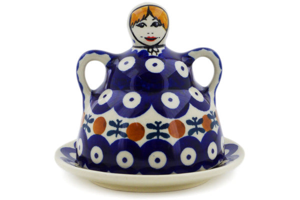 "Polish Pottery Cheese Lady 4"" Mosquito Theme"