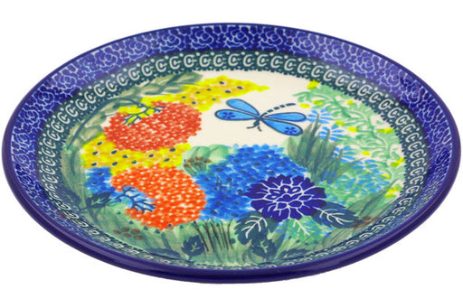 "Polish Pottery Plate 8"" Garden Delight Theme UNIKAT"