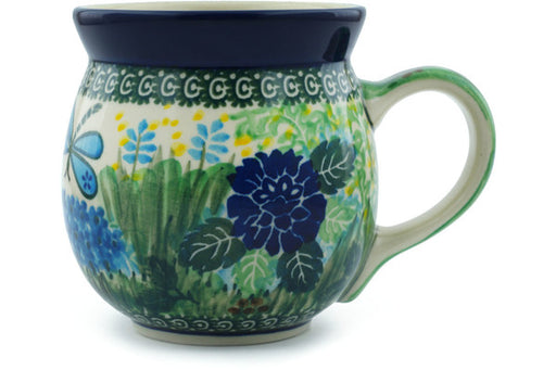 Polish Pottery Bubble Mug 16 oz Garden Delight Theme UNIKAT