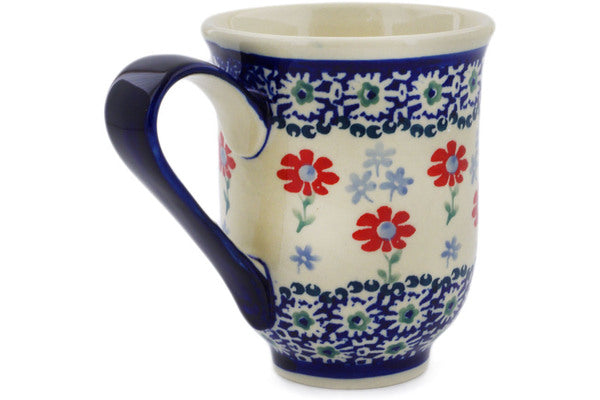 Polish Pottery Mug 12 oz Full Blossom Theme