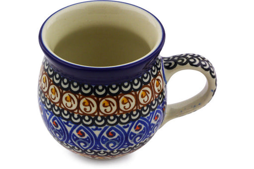 Polish Pottery Bubble Mug 12 oz Amber Shores Theme UNIKAT