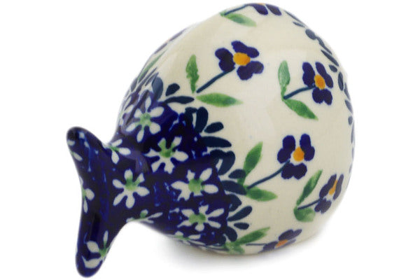 "Polish Pottery Fish Figurine 4"" Mariposa Lily Theme"