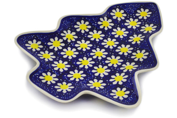 "Polish Pottery Tray 9"" Daisy Theme"