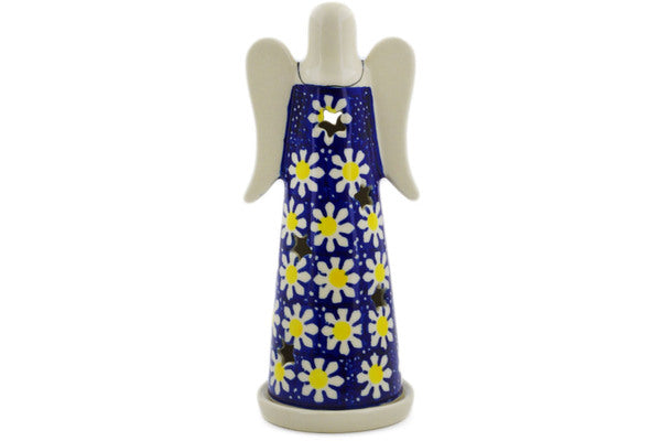 "Polish Pottery Candle Holder 8"" Daisy Theme"