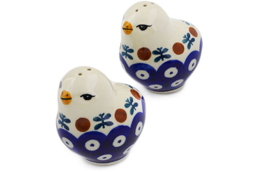 "Polish Pottery Salt and Pepper Set 2"" Mosquito Theme"