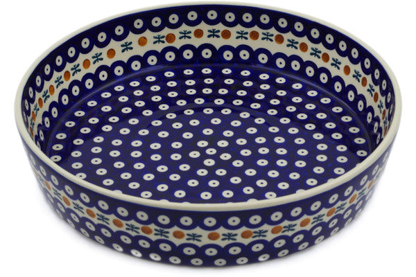 "Polish Pottery Bowl 12"" Mosquito Theme"