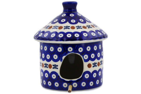 "Polish Pottery Birdhouse 7"" Mosquito Theme"