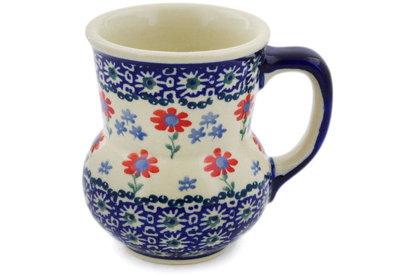 Polish Pottery Mug 15 oz Full Blossom Theme