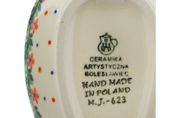 "Polish Pottery Spoon Rest 5"" Princess In A Red Dress Theme"