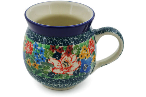 Polish Pottery Bubble Mug 12 oz Amazing Motif Theme UNIKAT