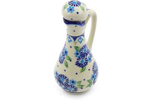 Polish Pottery Bottle 5 oz Aster Patches Theme
