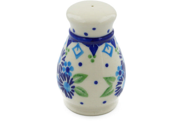 "Polish Pottery Salt Shaker 3"" Aster Patches Theme"