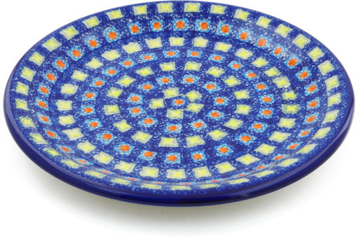 "Polish Pottery Plate 10"" Mosaic Tile Theme"