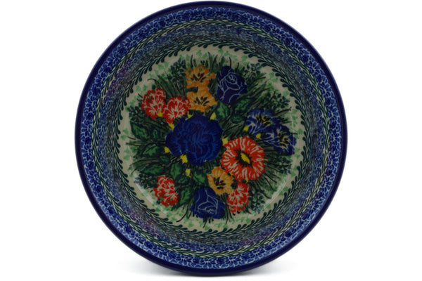 "Polish Pottery Bowl 6"" Divine Meadow Theme UNIKAT"