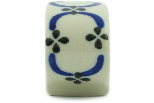 "Polish Pottery Napkin Ring 3"" Garden Lattice Theme"