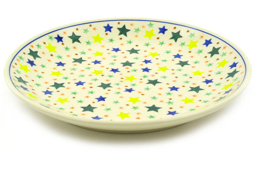 Polish Pottery Dinner Plate 10½-inch Confetti Stars Theme
