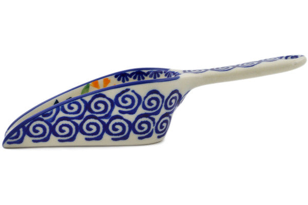 "Polish Pottery Scoop 6"" Wave Of Flowers Theme"