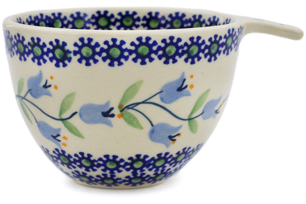 Polish Pottery Measuring Cup 8 oz Sweet Dreams Theme