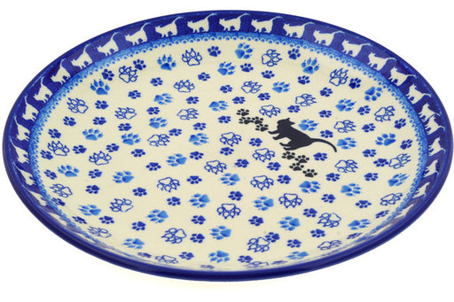 Polish Pottery Dinner Plate 10½-inch Boo Boo Kitty Paws Theme