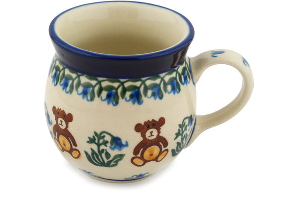 Polish Pottery Bubble Mug 8 oz Childrens Baby Bear Theme