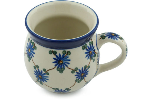 Polish Pottery Bubble Mug 12 oz Aster Trellis Theme