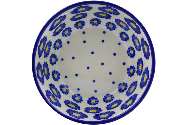 "Polish Pottery Bowl 5"" Wreath Of Blue Theme"