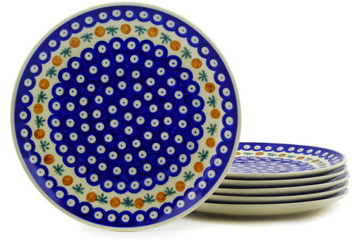 Polish Pottery dinner plates set of 6 Mosquito Theme