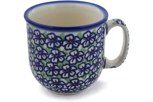 Polish Pottery Mug 10 oz Flower Bouquet Theme