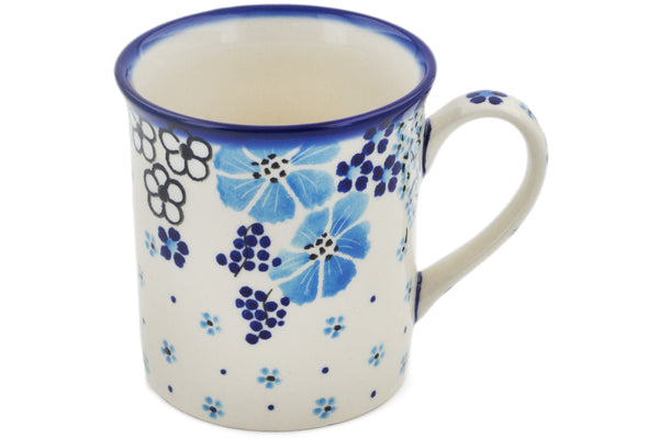 Polish Pottery Mug 8 oz Pansy Dawn Theme