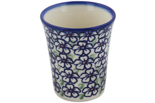 Polish Pottery Tumbler 5 oz Flower Bouquet Theme