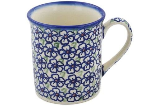 Polish Pottery Mug 8 oz Flower Bouquet Theme